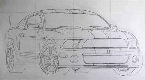 How To Draw Cars Grid Constrution