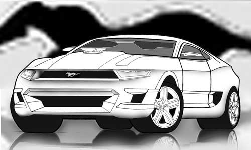 How to draw cars easy GT 500 concept idea