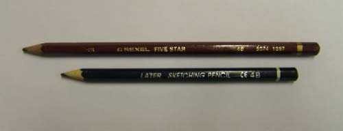 Graphite pencils 5b & 4b wooden type.