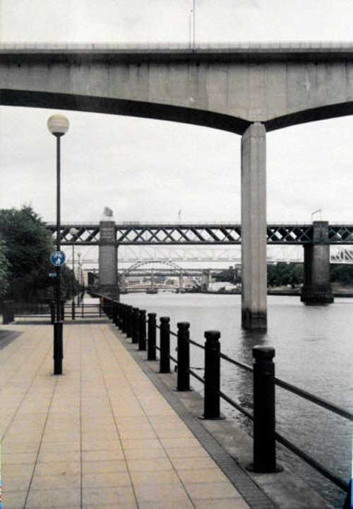 Image of bridges in Newcastle, England, UK.