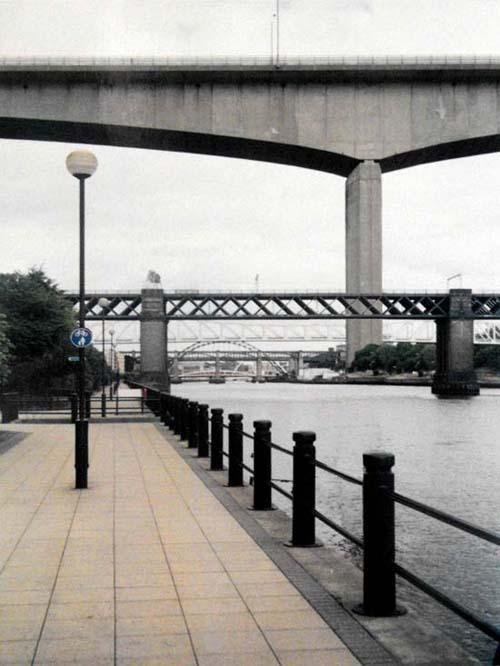 Image of bridges in Newcastle Upon Tyne, England, UK that has been edited.