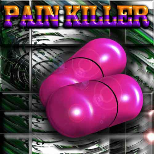 The pretty pink pain killer image.