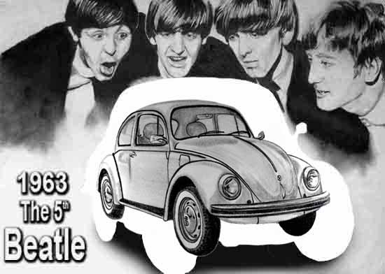 The Beatles and the 5th Beatle, negative, positive space.