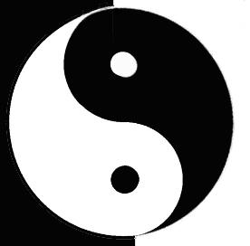 Yin and Yang classic Chinese Taoist Taijitu.