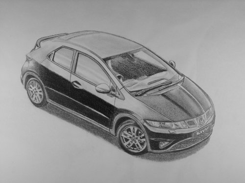HondaCivicToDrawACar Drawing ideas when bored, this will help you to find them easy.