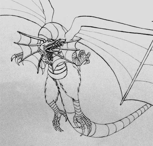 A dragon drawing taken from ideas found online.
