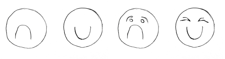 Draw Cartoons Faces, Emoticons, the cartoon code.