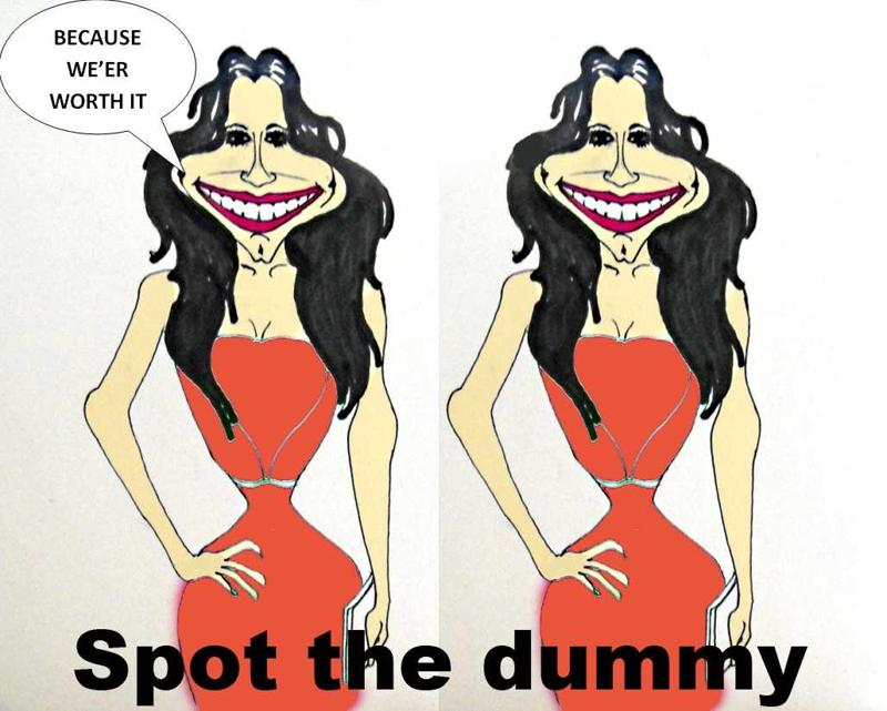 Spot The Dummy, Cheryl Cole, Draw Caricature, Just For The Crack.