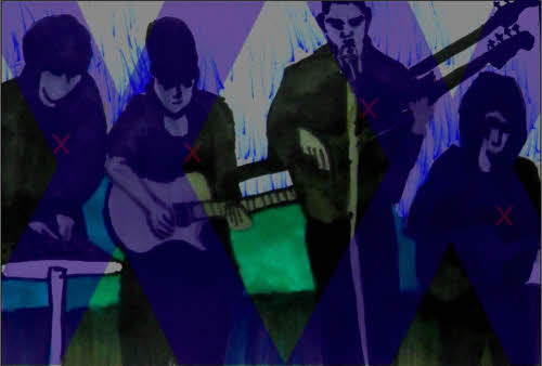 The XX, Emo Cartoon Drawing, from the video Crystalised.