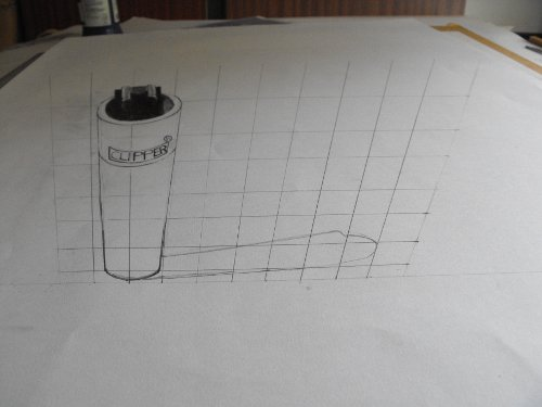 Anamorphic Perspective Grid Drawing Not Sighted with Camera Correctly.