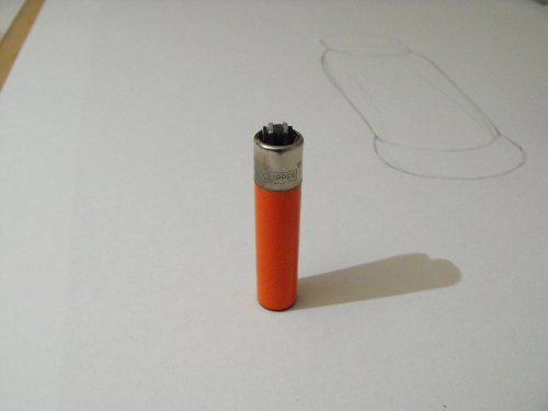 Image of a lighter standing upright.