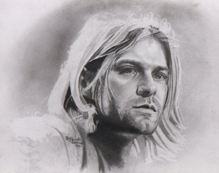 Kurt Cobain pencil portrait drawing perhaps finished V1