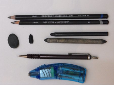 Pencil Portrait Drawing Equipment
