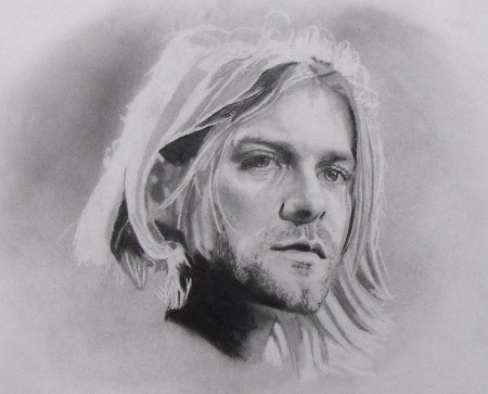Pencil Portrait Drawing Kurt Cobain