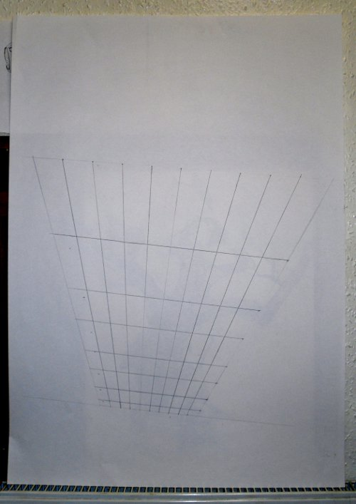 Anamorphic perspective grid for doing 3d drawings.