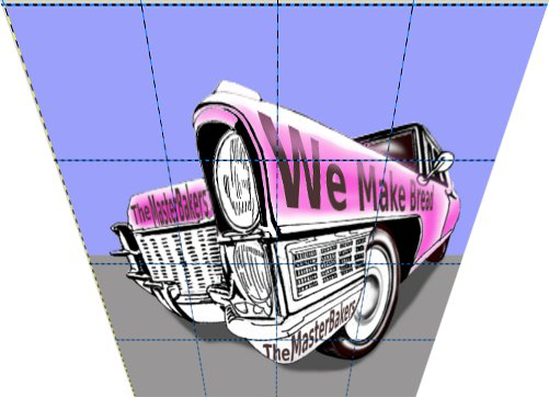 3d Cadillac Drawing Distorted Image.