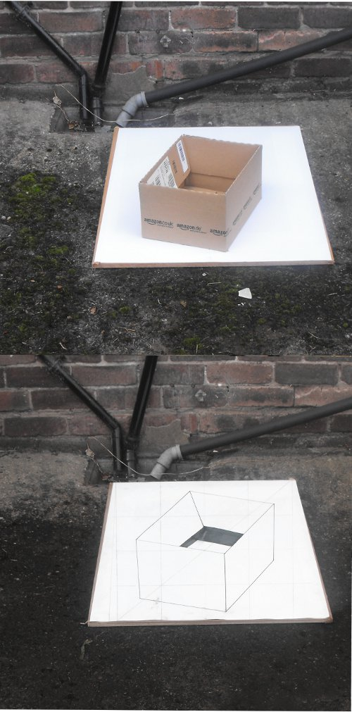 3d drawing and box comparison.