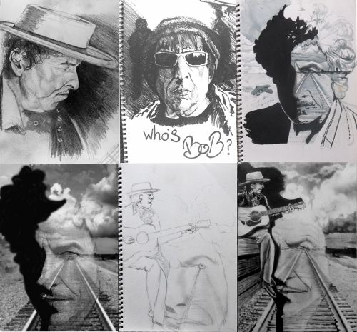 Portait drawing Bob Dylan Drawings and the never ending tour.