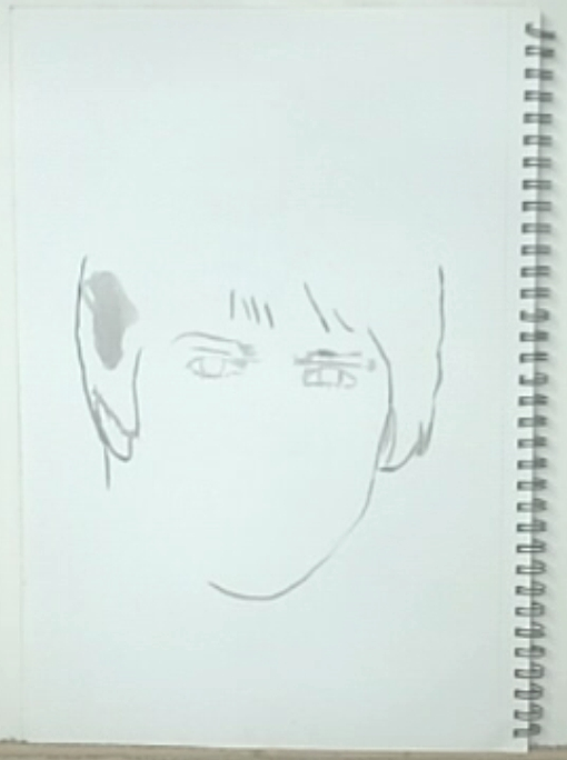 outline ink drawing of Davy Jones