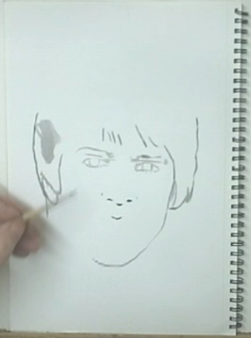 Ink drawing outline Davy Jones2 How to paint portrait drawings with ink.