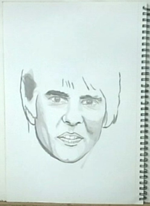 Ink drawing outline Davy Jones5 How to paint portrait drawings with ink.