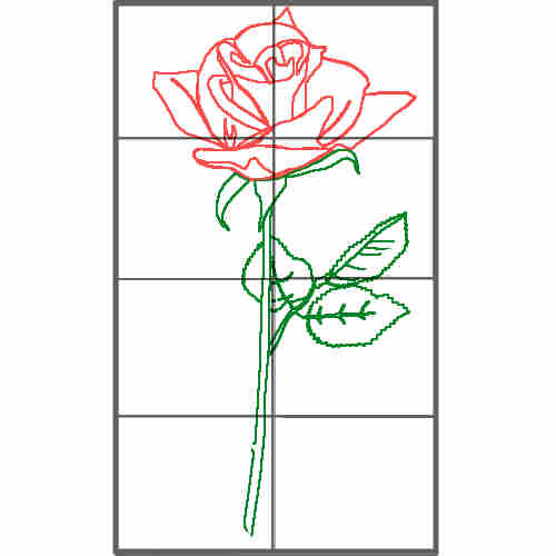 Red Rose How to draw a rose easy and simple.